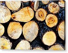 Wood Pile Acrylic Print