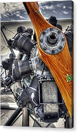 Wood Prop And Engine Acrylic Print