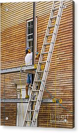 Wood Sanding The House Acrylic Print by Patricia Hofmeester