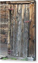 Wood Shed Door Acrylic Print