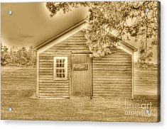 Wood Shop Acrylic Print by Kathleen Struckle