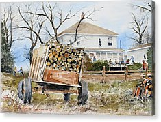 Wood Wagon Acrylic Print