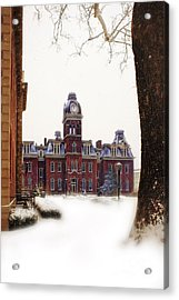 Acrylic Print featuring the photograph Woodburn Blowing Snow by Dan Friend