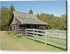Acrylic Print featuring the photograph Wooden Barn by Charles Beeler