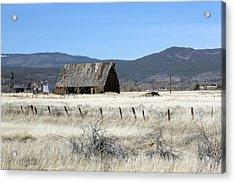 Wooden Barn Near Susanville Acrylic Print