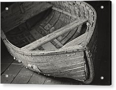 Wooden Boat Fading Away Acrylic Print by Mary Lee Dereske