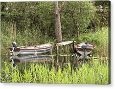 Acrylic Print featuring the photograph Wooden Boats by Jeremy Voisey