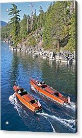 Wooden Boats On Lake Tahoe Acrylic Print