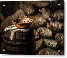 Wooden Bowl Acrylic Print by James Barber