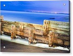 Wooden Break Wall Acrylic Print by Joe Belanger