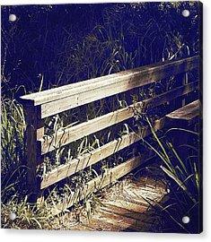 Wooden Bridge Acrylic Print by Beth Williams