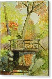 Wooden Bridge Central Park  Acrylic Print