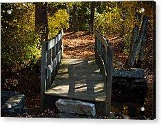 Wooden Bridge - Ledyard Sawmill Acrylic Print