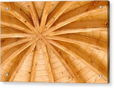 Wooden Ceiling  Acrylic Print by Ioan Panaite