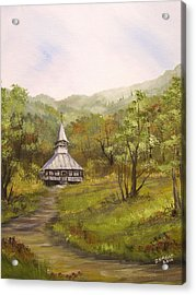Wooden Church In Transylvania Acrylic Print by Dorothy Maier