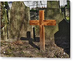 Wooden Cross Acrylic Print by Hans Engbers