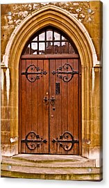 Wooden Door At Tower Hill Acrylic Print