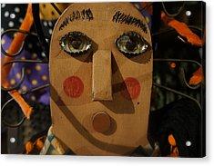 Wooden Face Acrylic Print