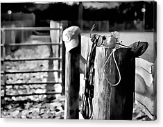 Acrylic Print featuring the photograph Wooden Fence by Pamela Blizzard