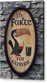 Wooden Guinness Sign Acrylic Print