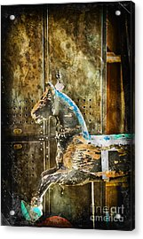 Wooden Horse Acrylic Print by Colleen Kammerer