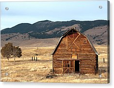 Wooden Hut In The Countryside Of Acrylic Print