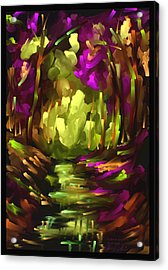 Wooden Light - Scratch Art Series - # 10 Acrylic Print by Steven Lebron Langston