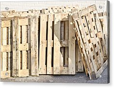 Wooden Pallets Acrylic Print by Tom Gowanlock