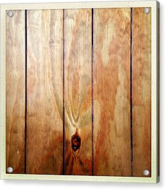 Wooden Panel Acrylic Print by Les Cunliffe