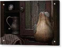Wooden Pear Still Life Acrylic Print by Tom Mc Nemar
