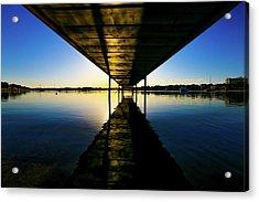 Wooden Pier At Sunset Acrylic Print by Wladimir Bulgar