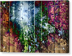Wooden Planks And Sunlight Streaming Through Leaves I Acrylic Print