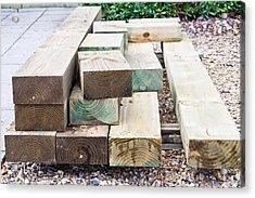 Wooden Planks Acrylic Print by Tom Gowanlock