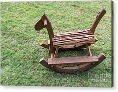 Wooden Rocking Horse Acrylic Print by Tosporn Preede