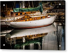 Wooden Sailboat Acrylic Print by Puget  Exposure