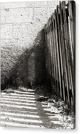 Acrylic Print featuring the photograph Wooden Shadow by Cendrine Marrouat