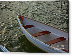 Wooden Skiff Acrylic Print by Amazing Jules