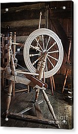 Wooden Spinning Wheel Acrylic Print