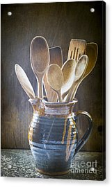 Wooden Spoons Acrylic Print by Jan Bickerton