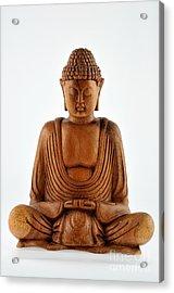 Wooden Statue Of Buddha Acrylic Print by George Atsametakis
