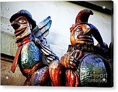 Wooden Statues Acrylic Print by John Rizzuto