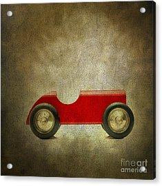 Wooden Toy Car Acrylic Print by Bernard Jaubert