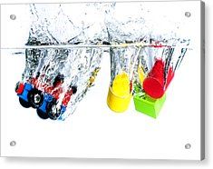 Wooden Toys In Water Acrylic Print by Mike Santis