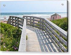 Wooden Walkway To Ocean Beach Acrylic Print