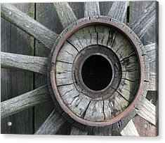 Wooden Wheel Acrylic Print