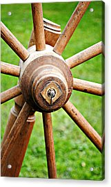 Woodenspoke Acrylic Print by Stephanie Grooms