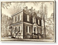 Woodford Mansion Acrylic Print by Olivier Le Queinec