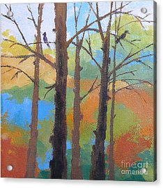 Woodland #4 Acrylic Print by Melody Cleary