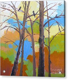 Woodland #5 Acrylic Print by Melody Cleary