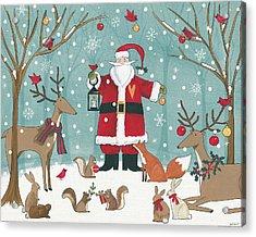 Woodland Christmas Vi Acrylic Print by Anne Tavoletti
